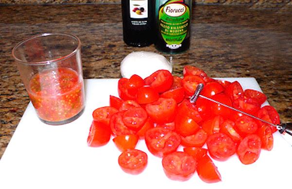 Vaciado de los tomates