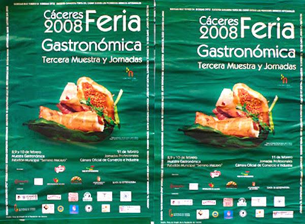 "Cartel de la 3ª Feria ""Cáceres Gastronómica"""