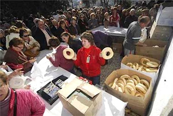 Puesto de venta roscas de anís