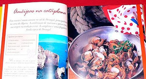 Interior del libro Com todo o sabor - Cozinha Portuguesa