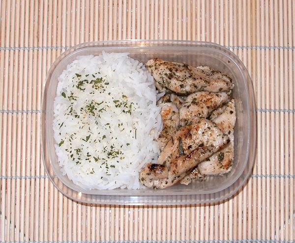 Menú #3 arroz y pechuga de pollo