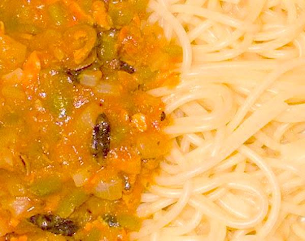 Salsa de mejillones con espaguetis