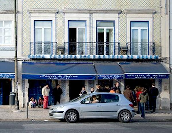 Fachada de la pastelería Pastéis de Belém