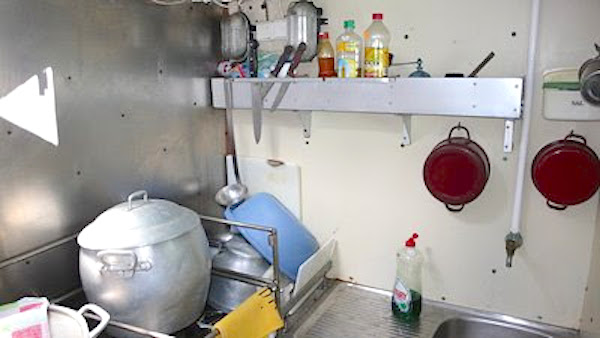 Detalles de la mini-cocina del Reina del Carmen