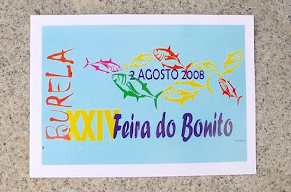 Cartel de la XXIV Feira do Bonito en Burela