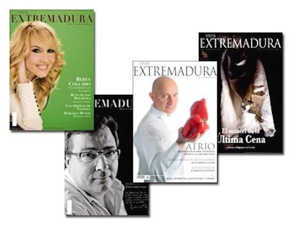 Portadas de la revista Vivir Extremadura