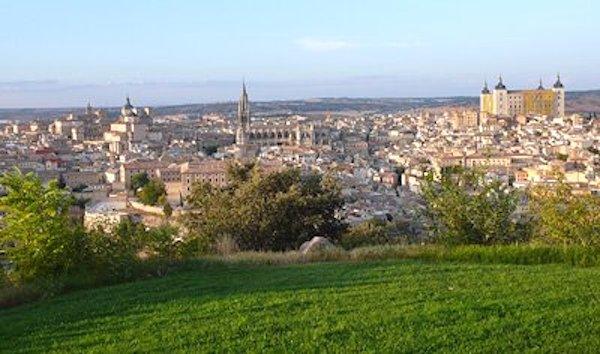 Toledo, al atardecer, desde la cafetería del Parador Conde de Orgaz