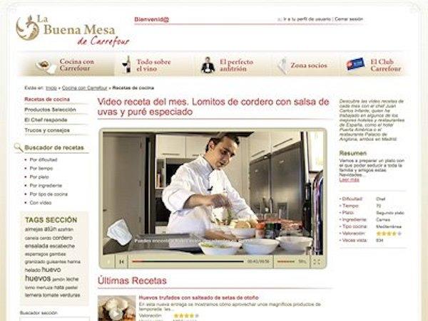 Web La Buena Mesa de Carrefour