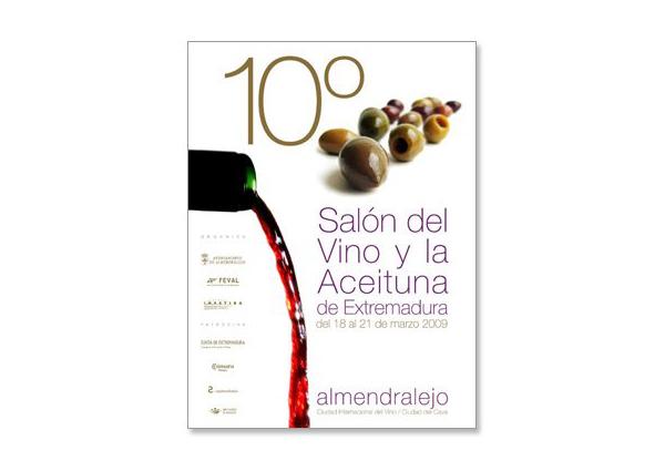 Cartel del 10º Salón del vino y la aceituna de Extremadura