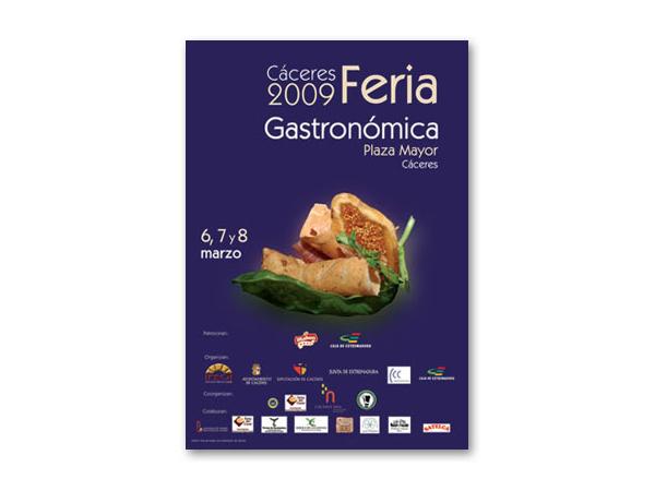 """Cartel de la IV Feria """"Cáceres Gastronómica"""""""