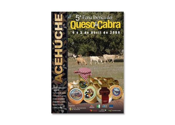 Cartel de la V Feria Ibérica del Queso de Cabra