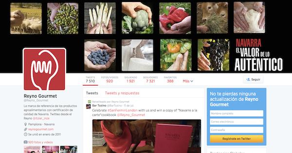 Navarra Gourmet en Twitter