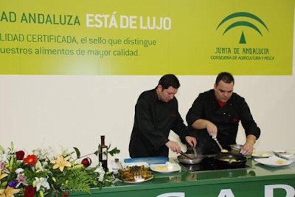 Web Andalucía Sabor - Cocina en directo en la pasada edición de 2007