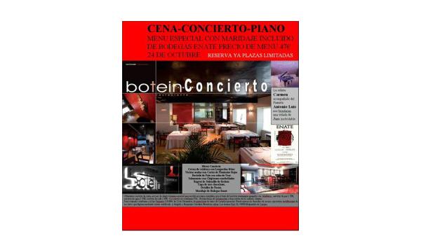 """Cartel del evento """"Cena con música de jazz en Botein"""""""
