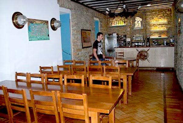 Uno de los comedores de la Sociedad Gastronómica Mariñelak