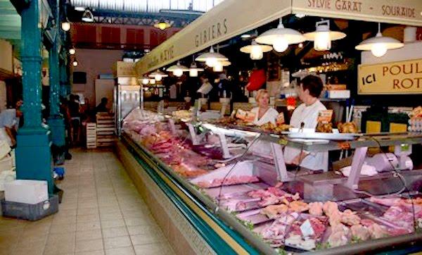 Mercado de abastos en San Juan de Luz