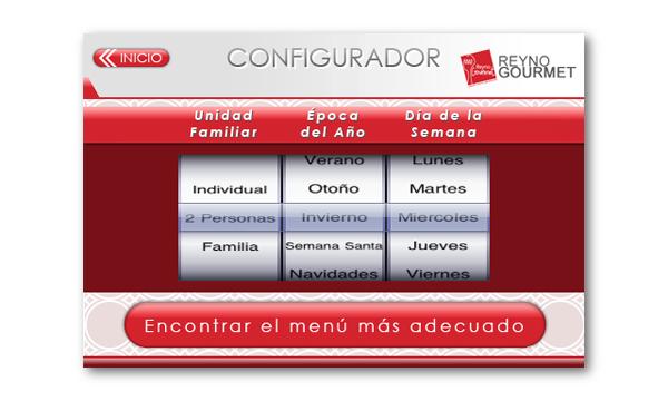 Pantalla aplicación Reyno Gourmet para iPhone