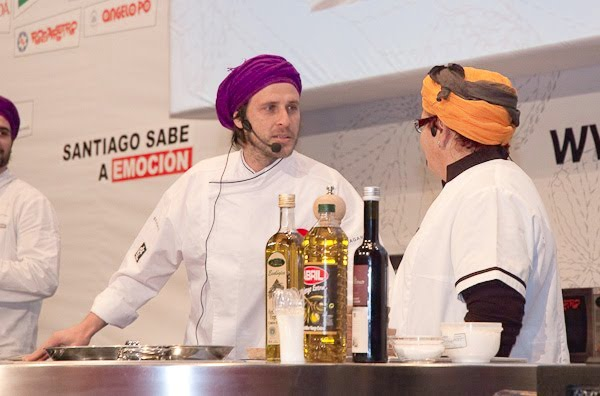 Chef Chakali y Aurora Baranda en el Fórum Santiago 2010