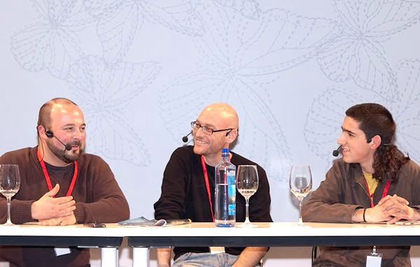 Manuel Gago, Txaber Allué y Martí Sans