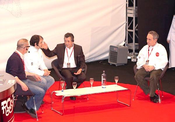 Eric Roux, Marcelo Tejedor, Jacques Maximin y Ferran Adrià