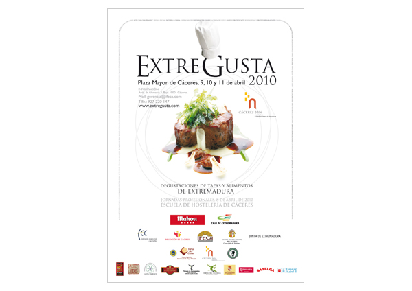 Cartel de la Feria Extregusta 2010