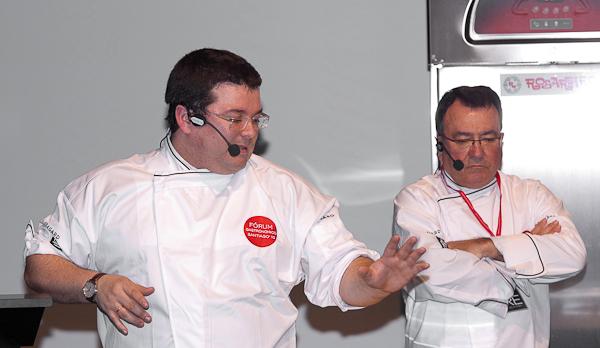 Marcos y Pedro Morán en el Fórum Santiago 2010