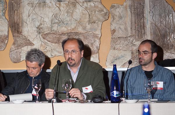 Fernando Canales, Jose Luis Orihuela y Nacho Vázquez