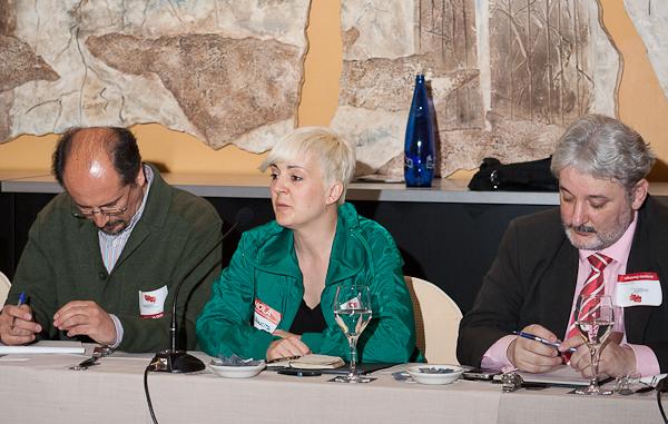 Jose Luis Orihuela, Cristina Martínez y Antonio Domingo