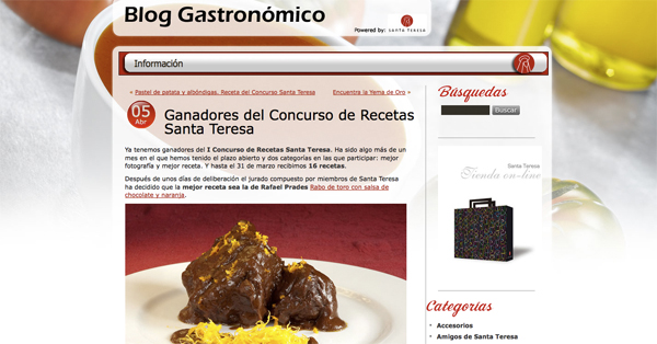 Blog Gastronómico Santa Teresa