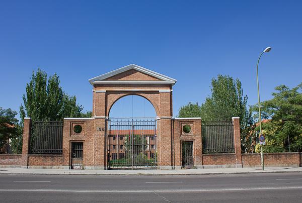 Una de las entradas al actual Instituto Virgen de la Paloma