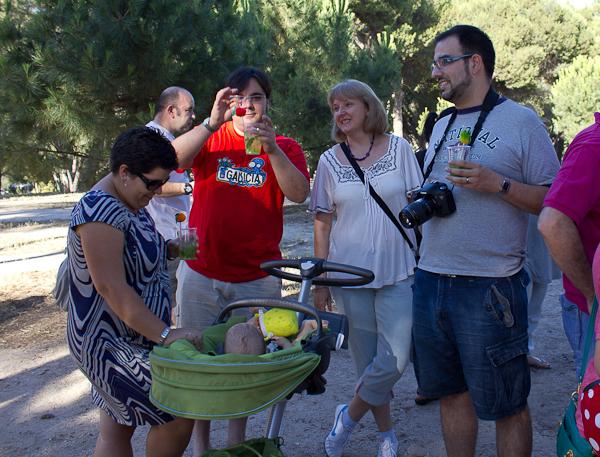 En primer término Laura, Alfonso, Ana, Luis y el pequeño Eric