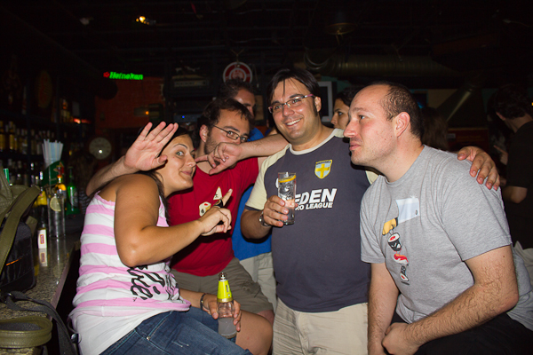 Montse, Xabier, Alfonso y Damián