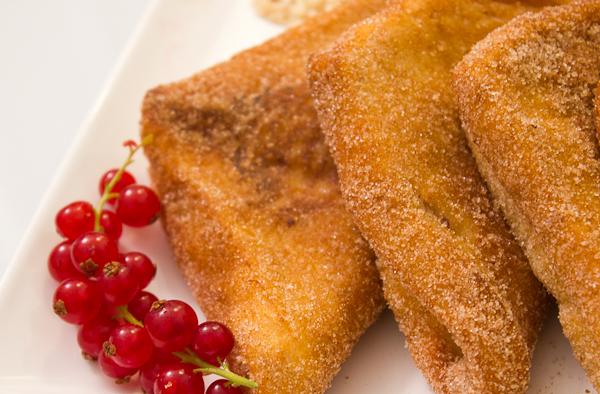 Pañuelos de pan Bimbo rellenos de crema - Alfonso de Recetas de Rechupete