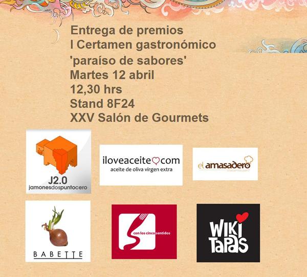 "Entrega de premios ""Paraíso de sabores"""