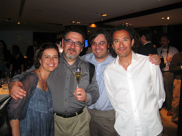 Con Yanet, Alfonso y Fernando