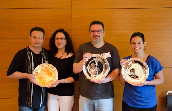 Javier, Mar, Rafa y Montse premiados en Navarra Gourmet