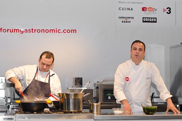 Angel León y su equipo de Aponiente en el Fòrum Girona 2011