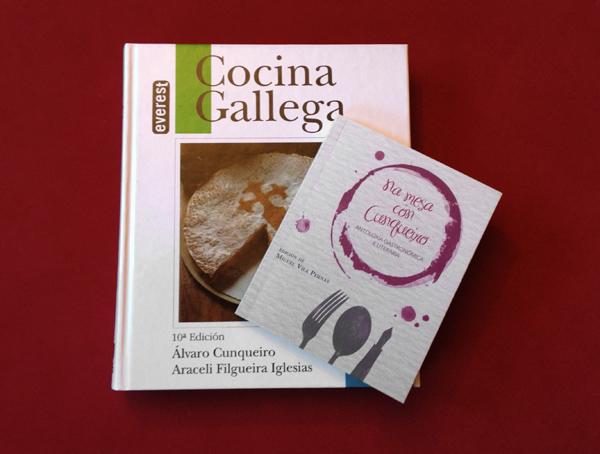 Libros: Cocina Gallega y Na mesa con Cunqueiro