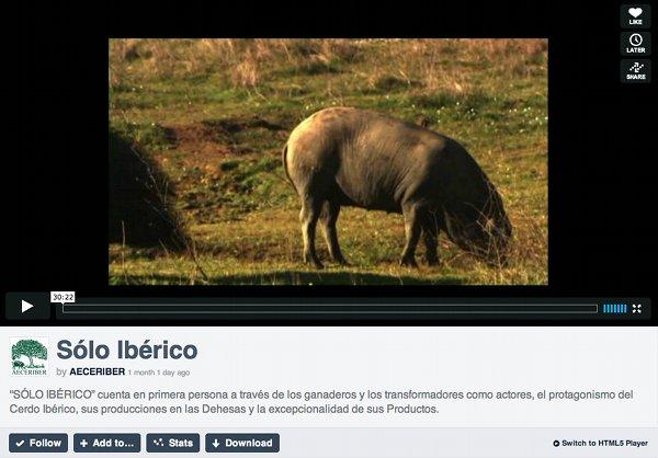 """Vídeo """"Sólo ibérico"""""""