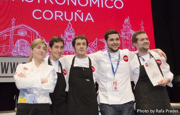 """Finalistas Concurso """"Cociñeiro do Ano"""" Fórum Coruña"""