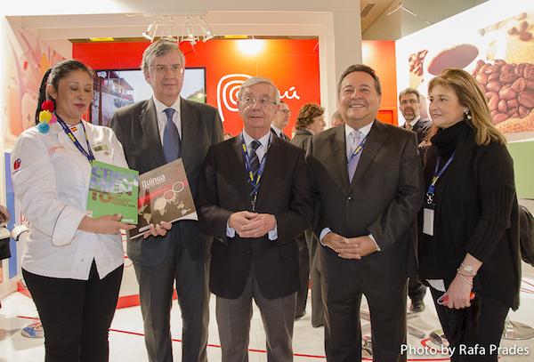 Presentación del libro Quinua 5 Continentes en Madrid Fusión