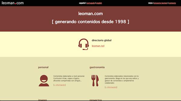Sitio web leoman.com